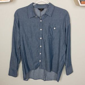 Jack | Chambray Pear Button Down Top